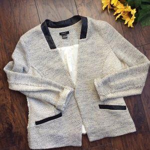 Drew Sweater Leather Blazer